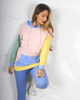 Sudadera Gorro Multicolor