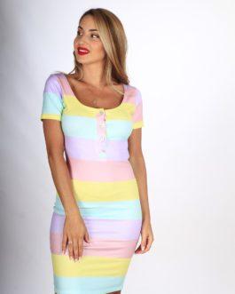 Vestido Canalé Multicolor