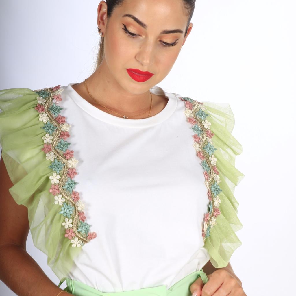 Camiseta Flores Tull