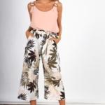 Pantalon Midi Flores