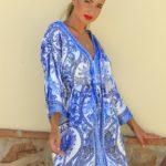 Vestido Kimono Raso
